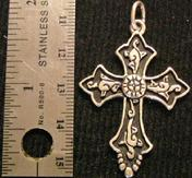 Osteen jewelry western pendants sterling silver cross with rosette 60 approx aloadofball Image collections